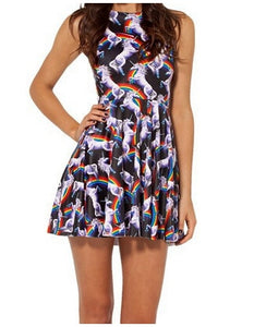 Attack of the Unicorn Reversible Skater Dress