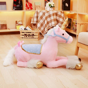 Lovely 90cm Unicorn Plush Toys Jumbo Giant Stuffed  Unicorn