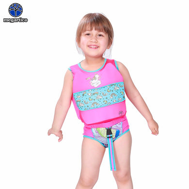 Megartico Life Vest Children Pink Unicorn Swim Trainer Vest