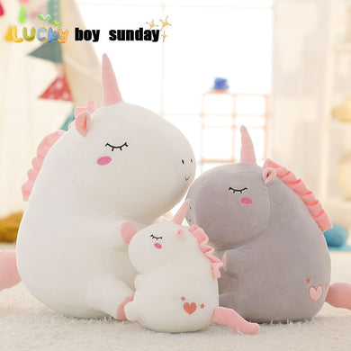 unicorn plush toy fat unicorn doll