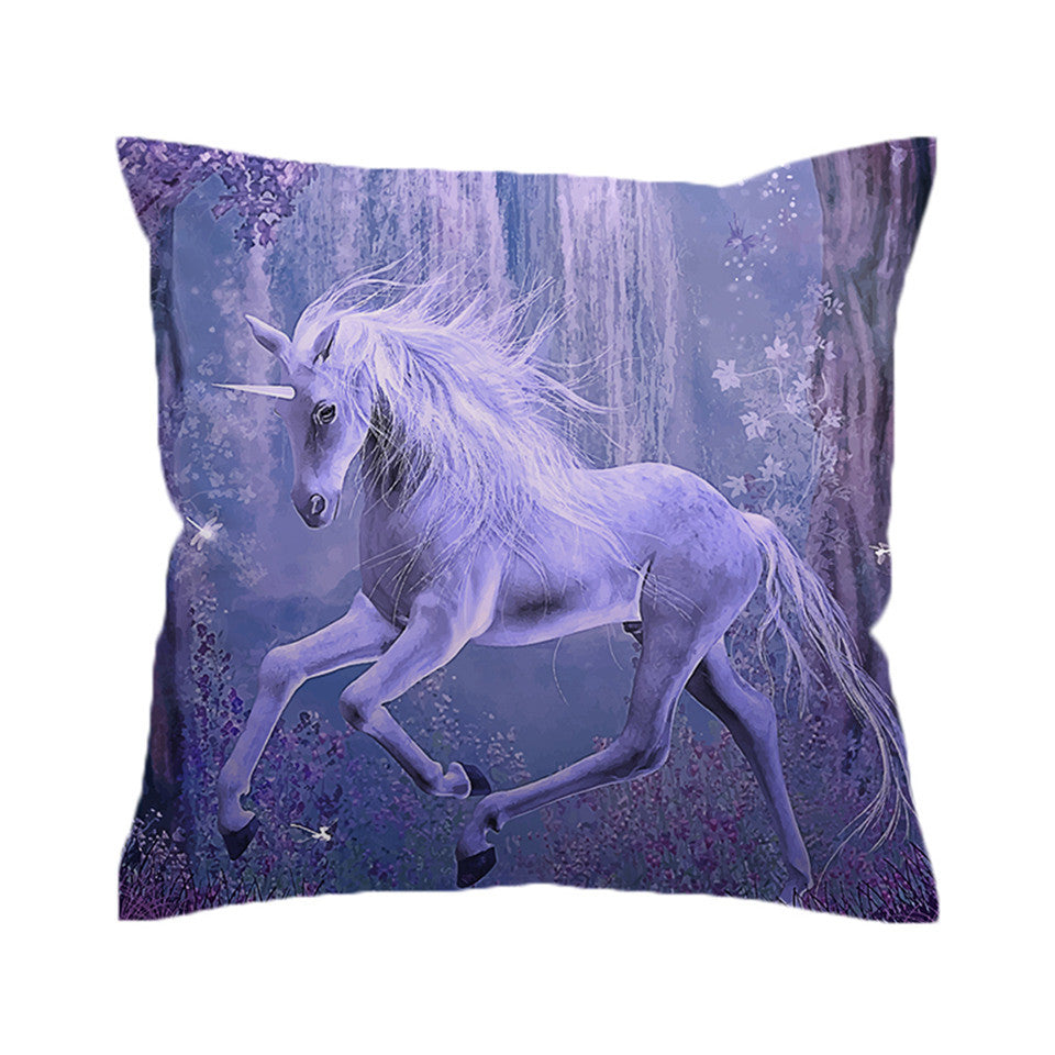 BeddingOutlet Unicorn Cushion Cover  Pillow Case Floral Scenic Throw Cover Decorative Pillow Cover