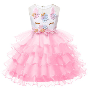 Kids Dresses For Girls Unicorn Party