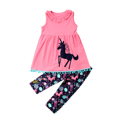 2-7Years Kids Baby Girls Clothes Set