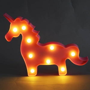 High Quality Cute 3D Unicorn Night Light