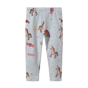 Jumping meters Kids Baby Printing unicorn cotton Toddler Leggings Pants princess 2-7T 2018 Children Legging Baby Girls Leggings