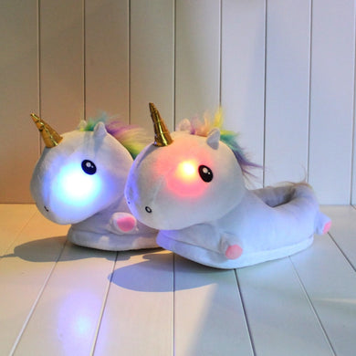 3Styles 35cm Unicorn Plush Slippers