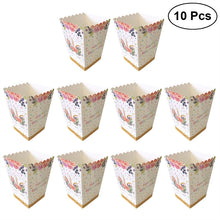 10PCS Unicorn Popcorn Candy Treat Boxes Magical Unicorn Party Supplies