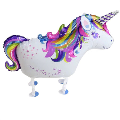2pcs Unicorn Walking Animal Balloons Aluminum Foil Air Walkers Party
