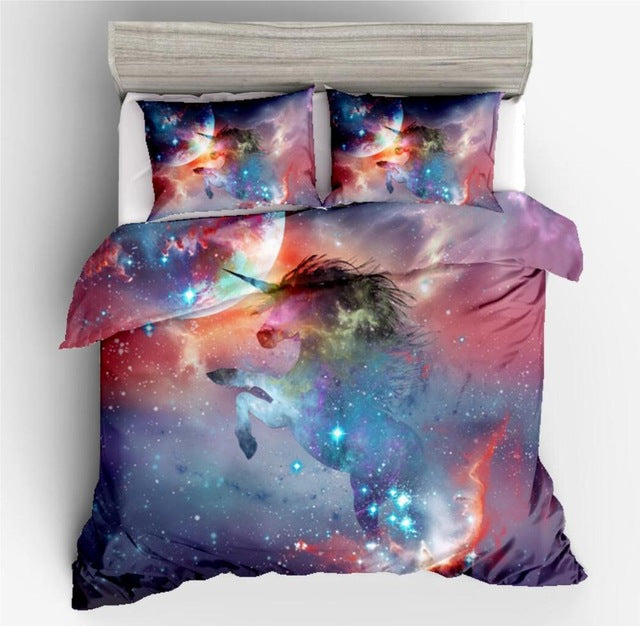 Cartoon Rainbow Unicorn Bedding Sets