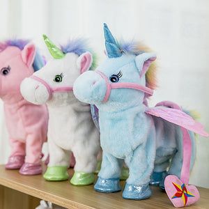 Singing and Walking Unicorn Electronic plush