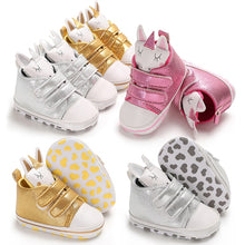 Newborn Baby Kids Boys Cute Cartoon Unicorn First Walkers