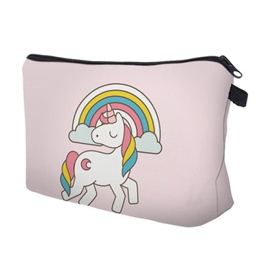 Multifunctional Unicorn 3D Printing Makeup Bags Portable Storage Bag Case Toiletry Bag Wash Bag