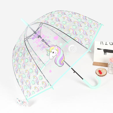Fashion Unicorn Transparent Umbrella