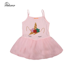Lovely Sweet Girls Summer Princess Dress Sleeveless