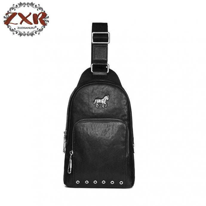 Formal Unicorn Leather Shoulder Messenger Bag