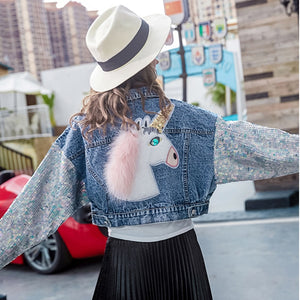 Fashion Unicorn Denim Jacket Women
