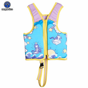 Megartico life vest children mermaid unicorn swimming vest