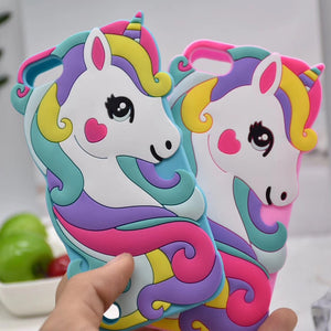 Cartoon Unicorn Silicon Case for Apple iPod Touch 6