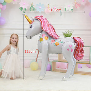 Large Size 3D Unicorn Balloons