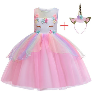 Children Girls Unicorn Tutu Dress