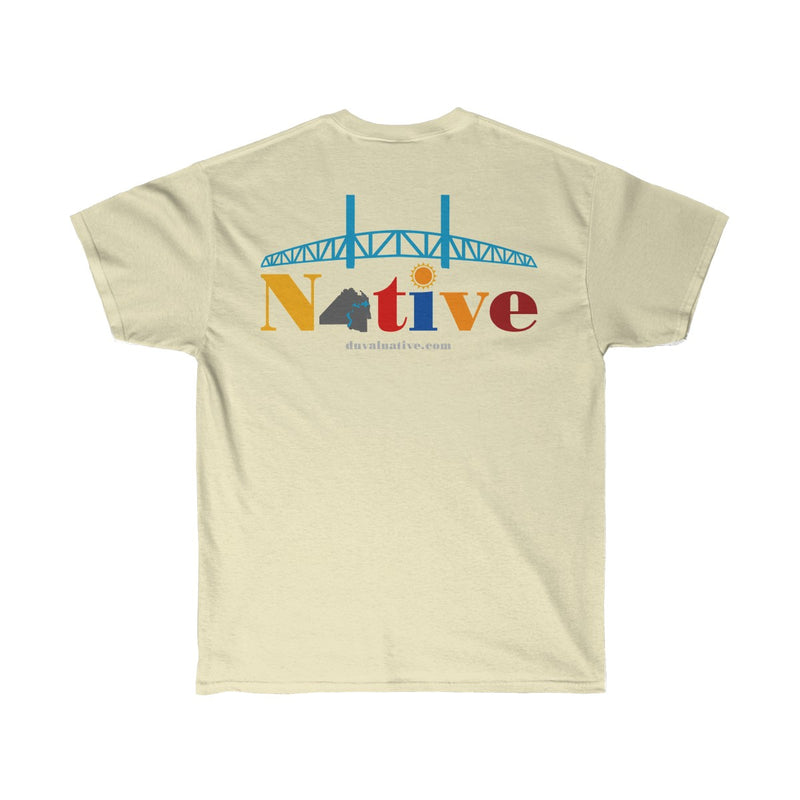 The Riverside: Unisex Ultra Cotton Tee, Logo On Back