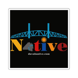 Show Your Duval Pride. Indoor/Outdoor Square Stickers, Black