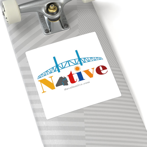 Show Your Duval Pride. Indoor/Outdoor Square Stickers, Transparent Backing