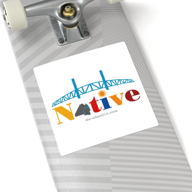 Show Your Duval Pride. Indoor/Outdoor Square Stickers, White