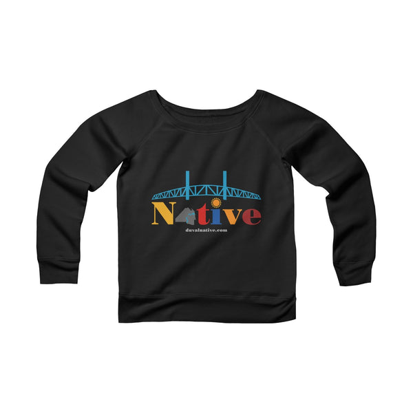 Duval Native Women's Sponge Fleece Wide Neck Tee