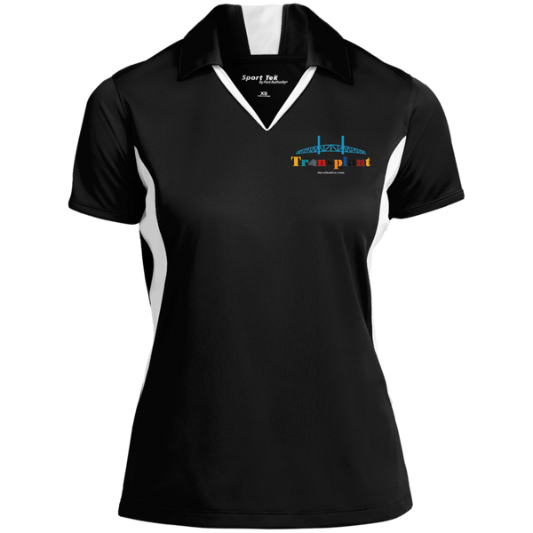 LST655 Sport-Tek Ladies' Colorblock Performance Polo