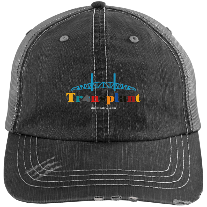 6990 Distressed Unstructured Trucker Hat