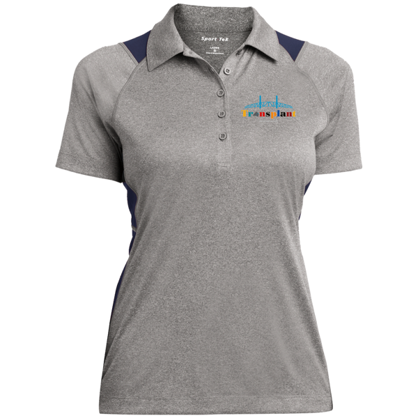 LST665 Sport-Tek Ladies' Heather Moisture Wicking Polo