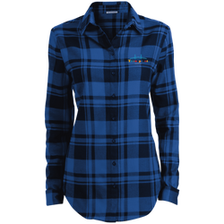 LW668 Port Authority Ladies' Plaid Flannel Tunic