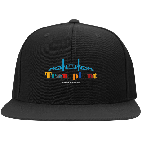 STC19 Sport-Tek Flat Bill High-Profile Snapback Hat