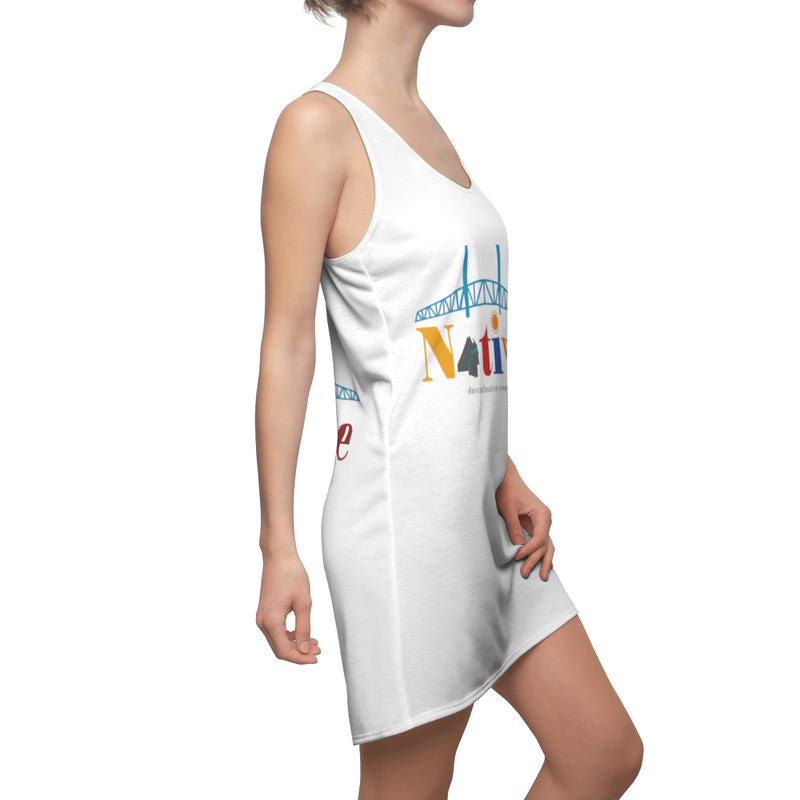 The Main Street: Women's Cut & Sew Racerback Dress, Logo On Front and Back