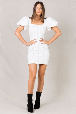 KALINDY IVORY MINI DRESS