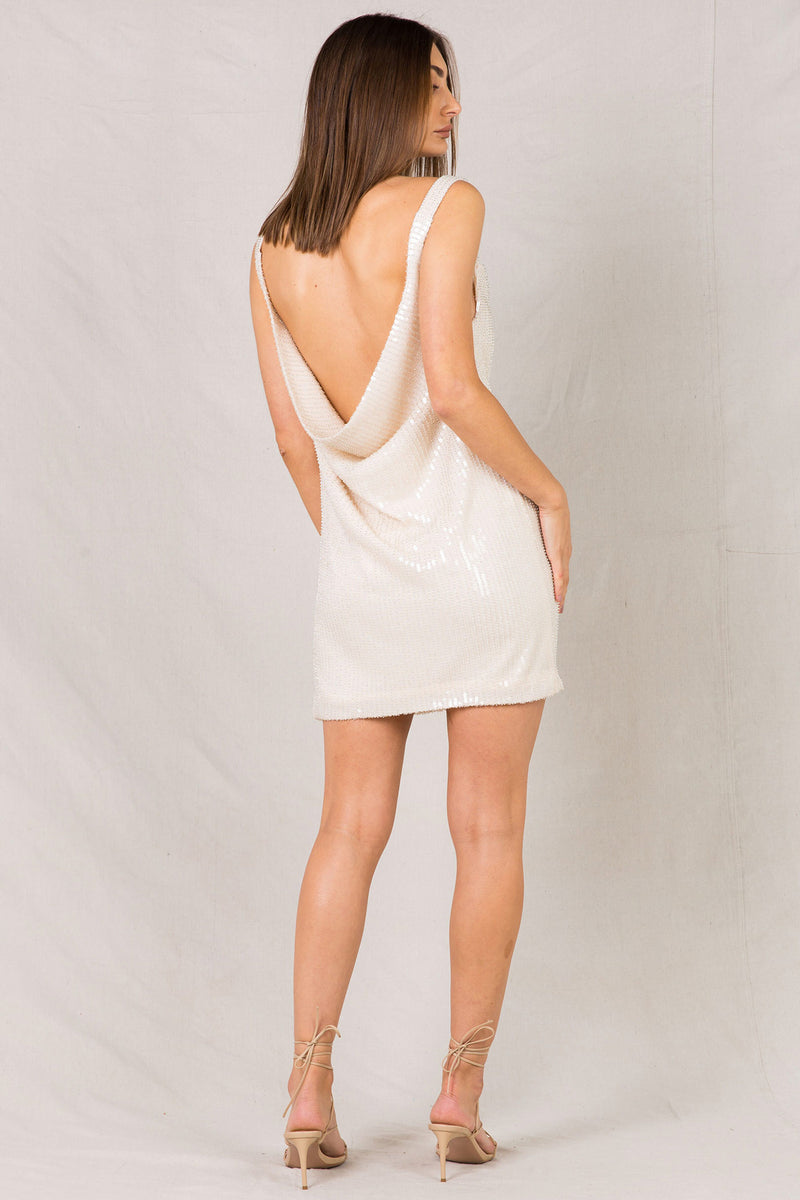 MAXIE BEADED MINI DRESS