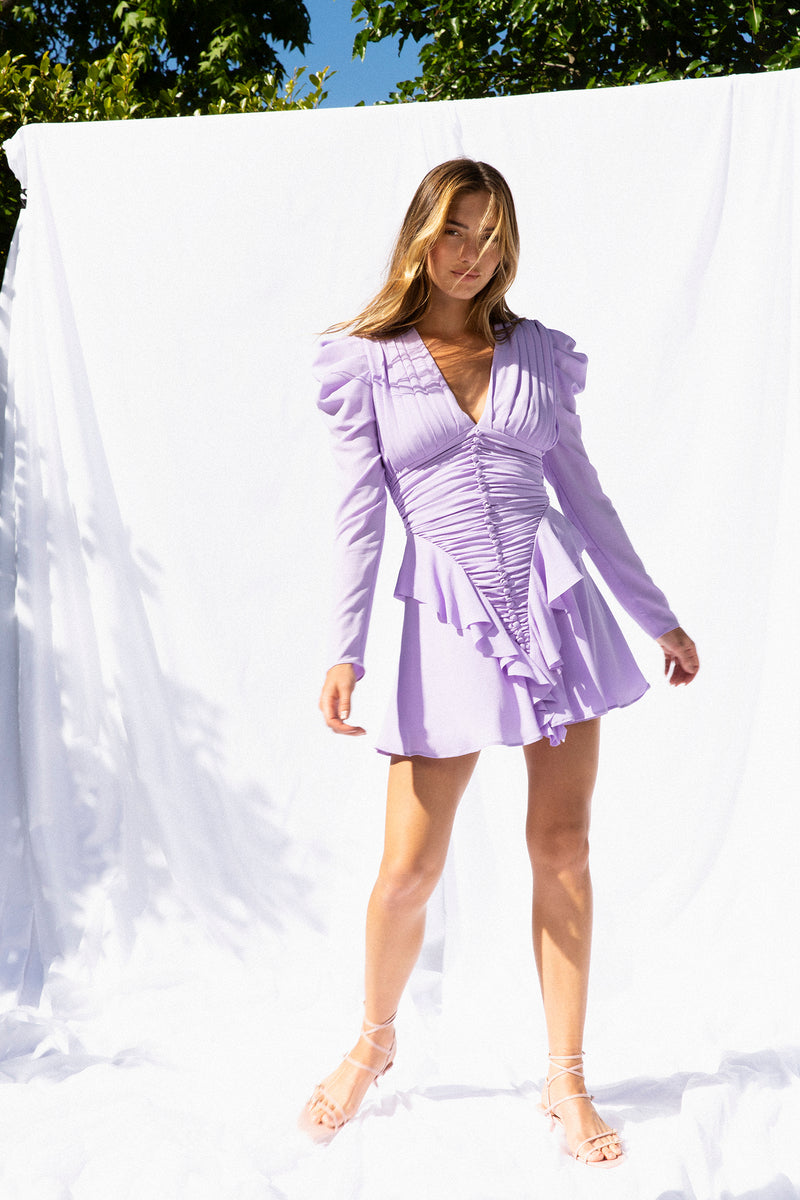 JIA LILAC MINI DRESS