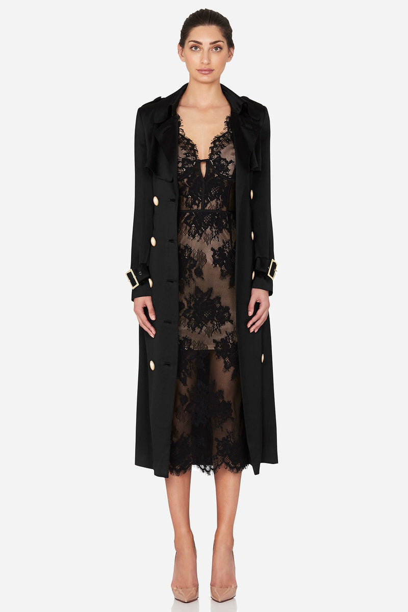 Valerie trench coat in the colour black