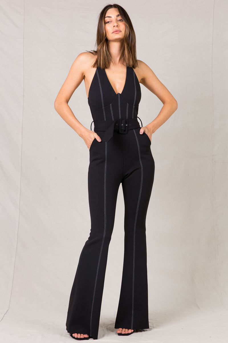 SHARLENE BLACK JUMPSUIT