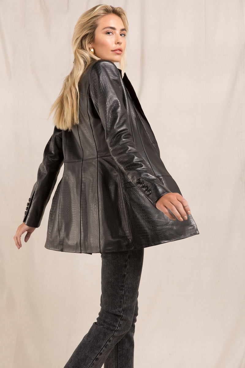 WELLA LEATHER BLAZER