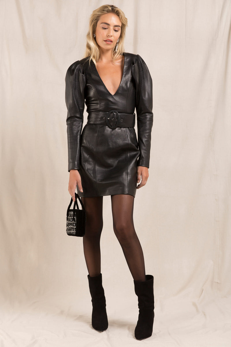CIANA LEATHER DRESS