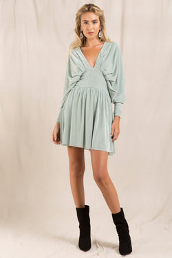 ILARIA SLINKY JERSEY MINI DRESS