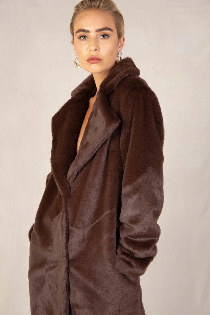 SERENELLA FAUX FUR COAT