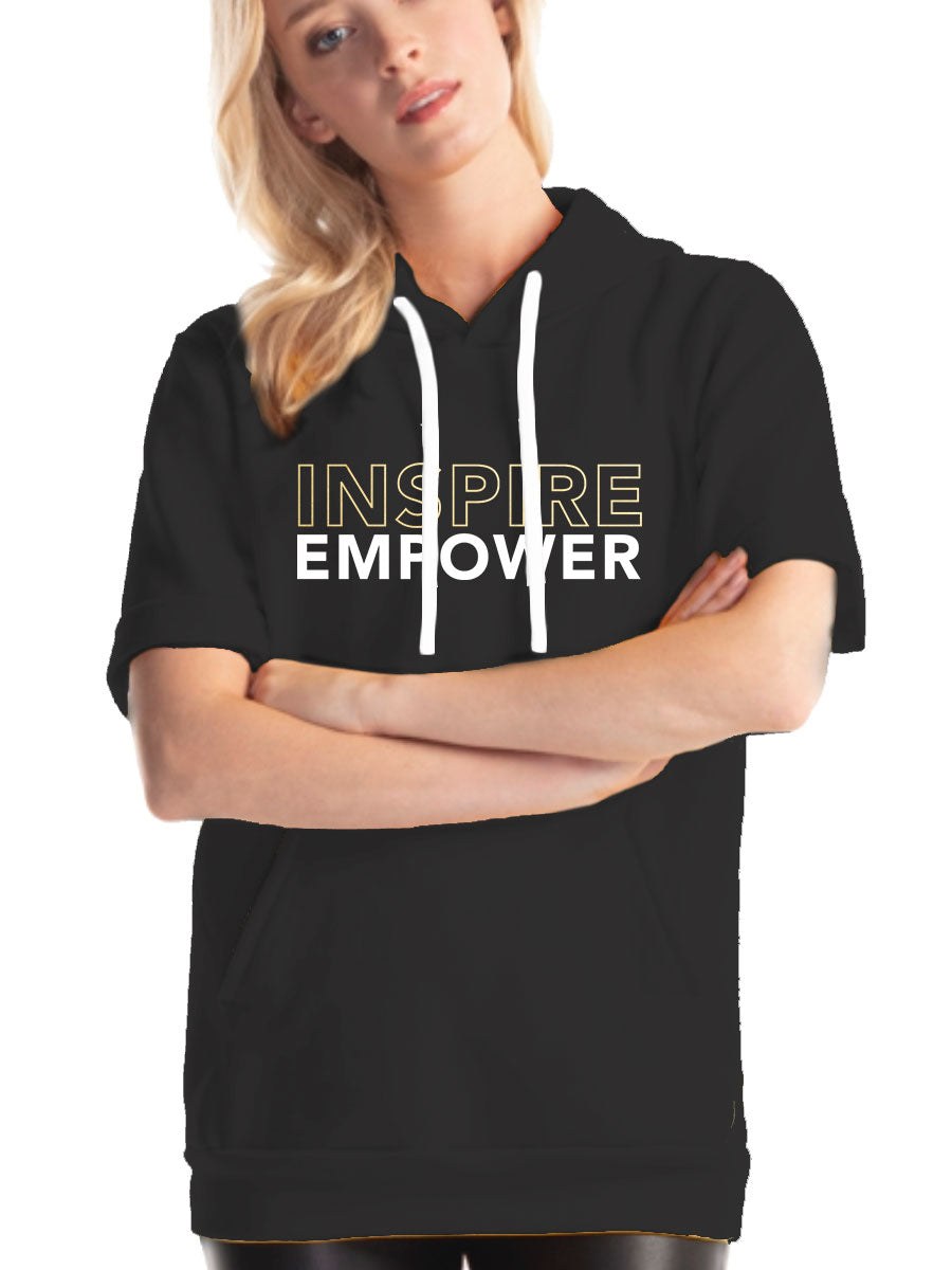 She's Got Game Inspire Empower Short Sleeve Hoodie