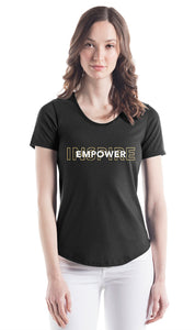 She's Got Game Inspire Empower Scoop Bottom T-shirt OVLP