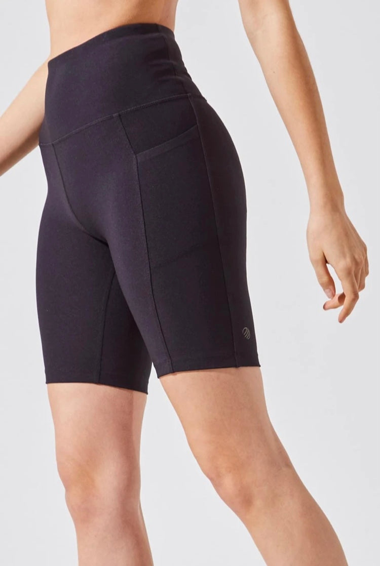 MPG-Brisk High Waisted Recycled Polyester Biker Short with pockets on both sides ;)