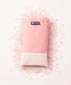 BYOGA- The Crystal Collection- Cotton Lavender Eye Pillow Rose Quartz