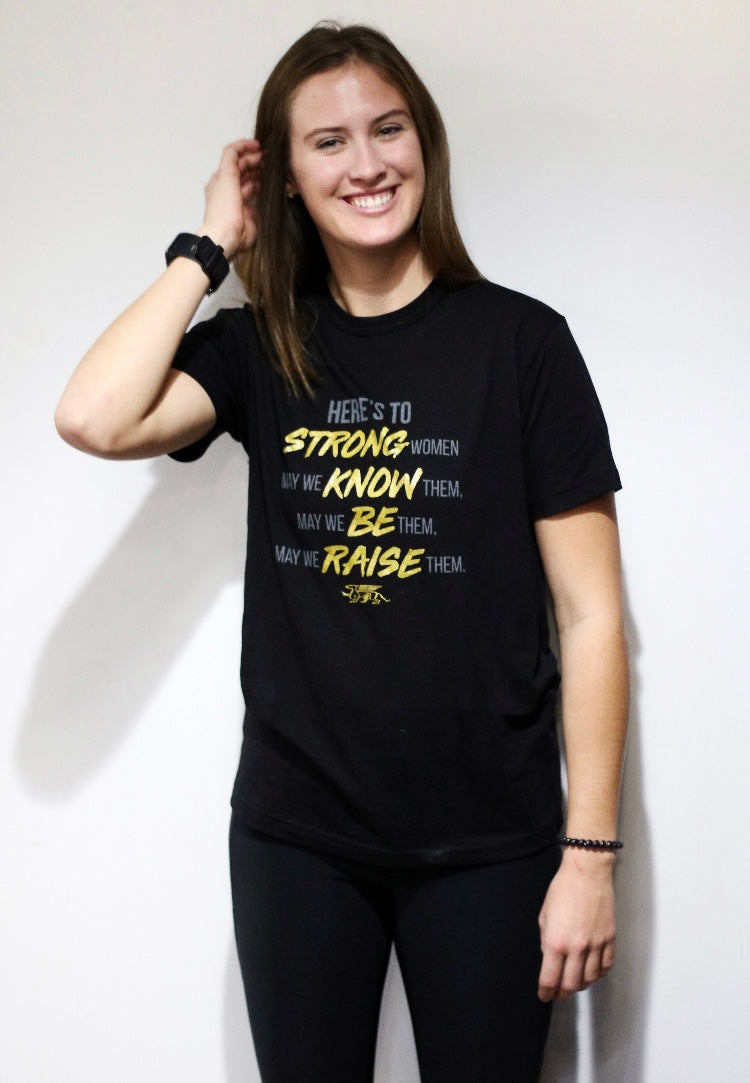 Here's To Strong Women Bamboo Tshirt ADULT
