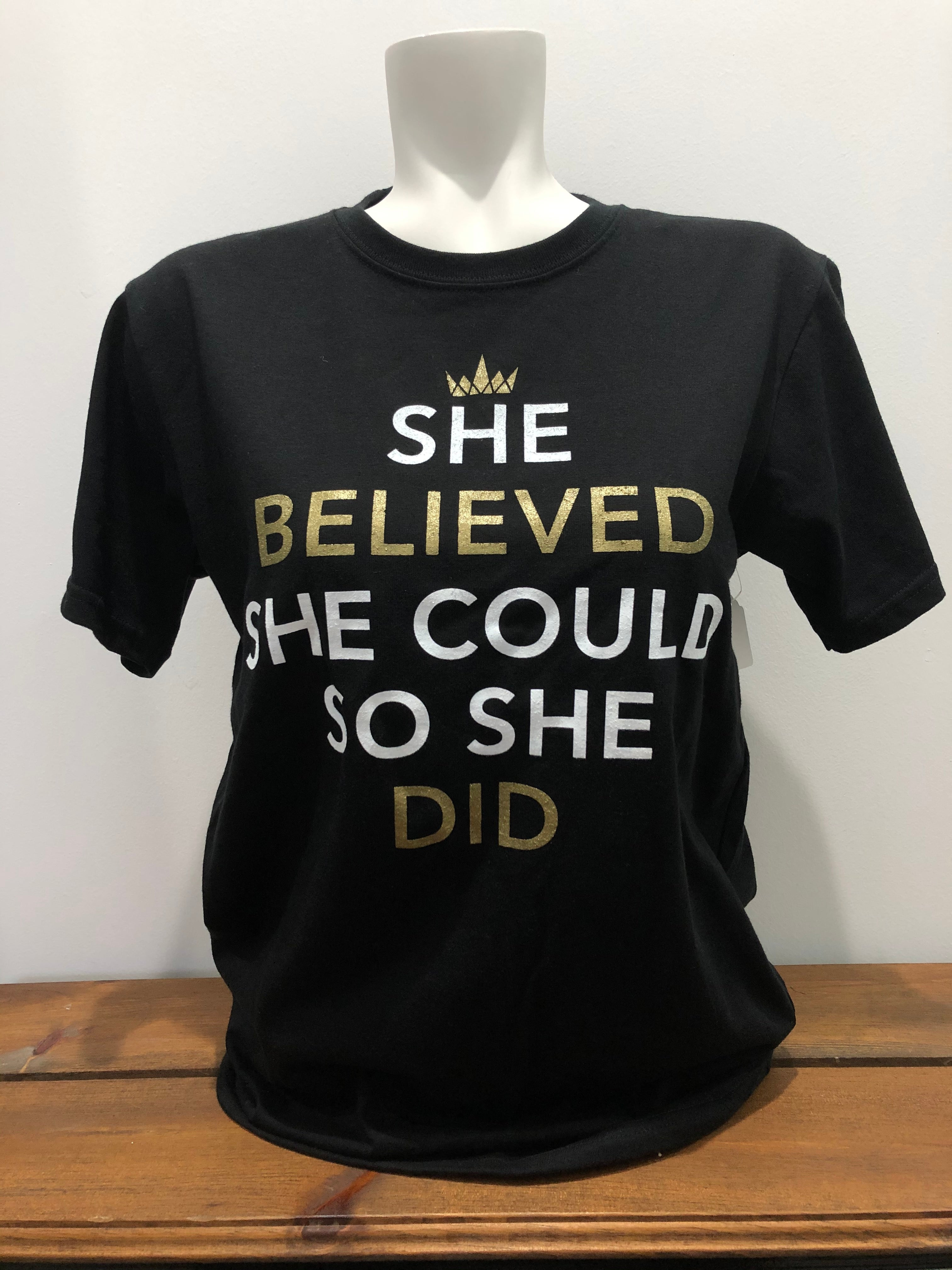 She Believed She Could, So She Did Jersey Tshirt ADULT